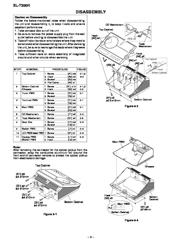 Sharp XL-T300 parts guide — Page 2