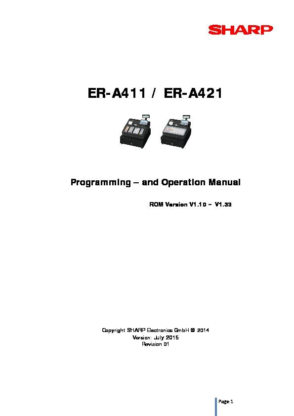 Sharp ER-A411, ER-A421 (SERV.MAN7) Driver / Update — View