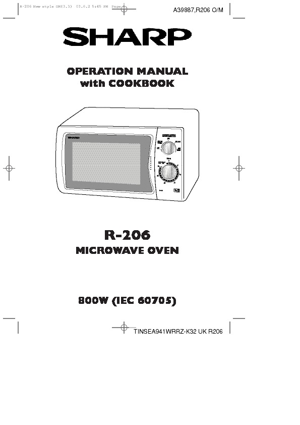 Sharp R-206 (SERV.MAN3) Parts Guide — View online or