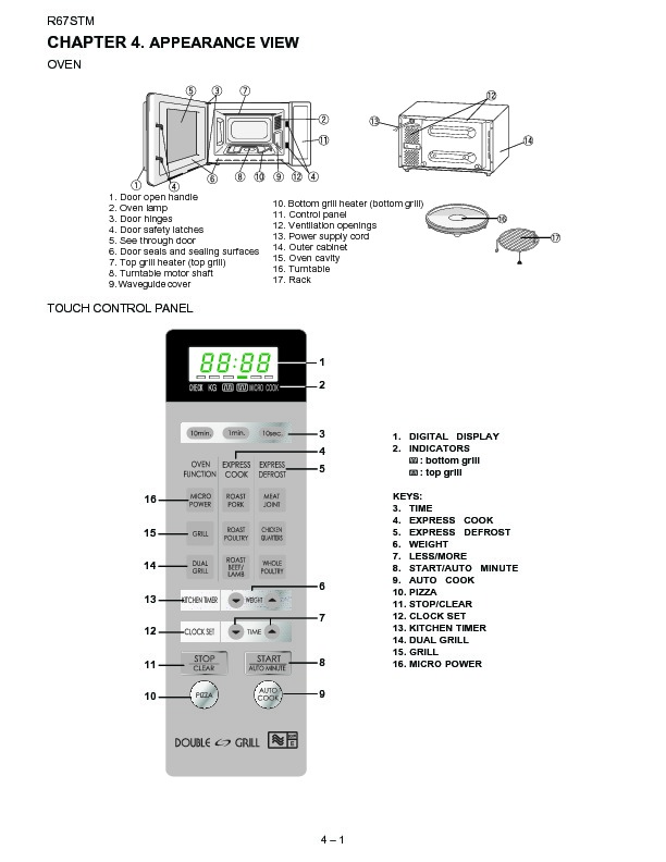 Sharp R-67STM (SERV.MAN14) Parts Guide — View online or
