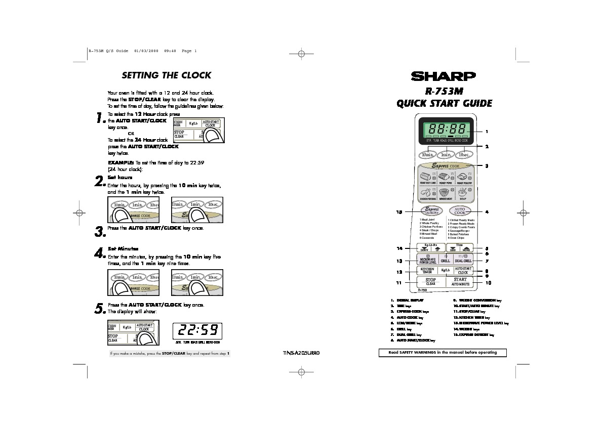 Sharp R-753 (SERV.MAN5) Parts Guide — View online or