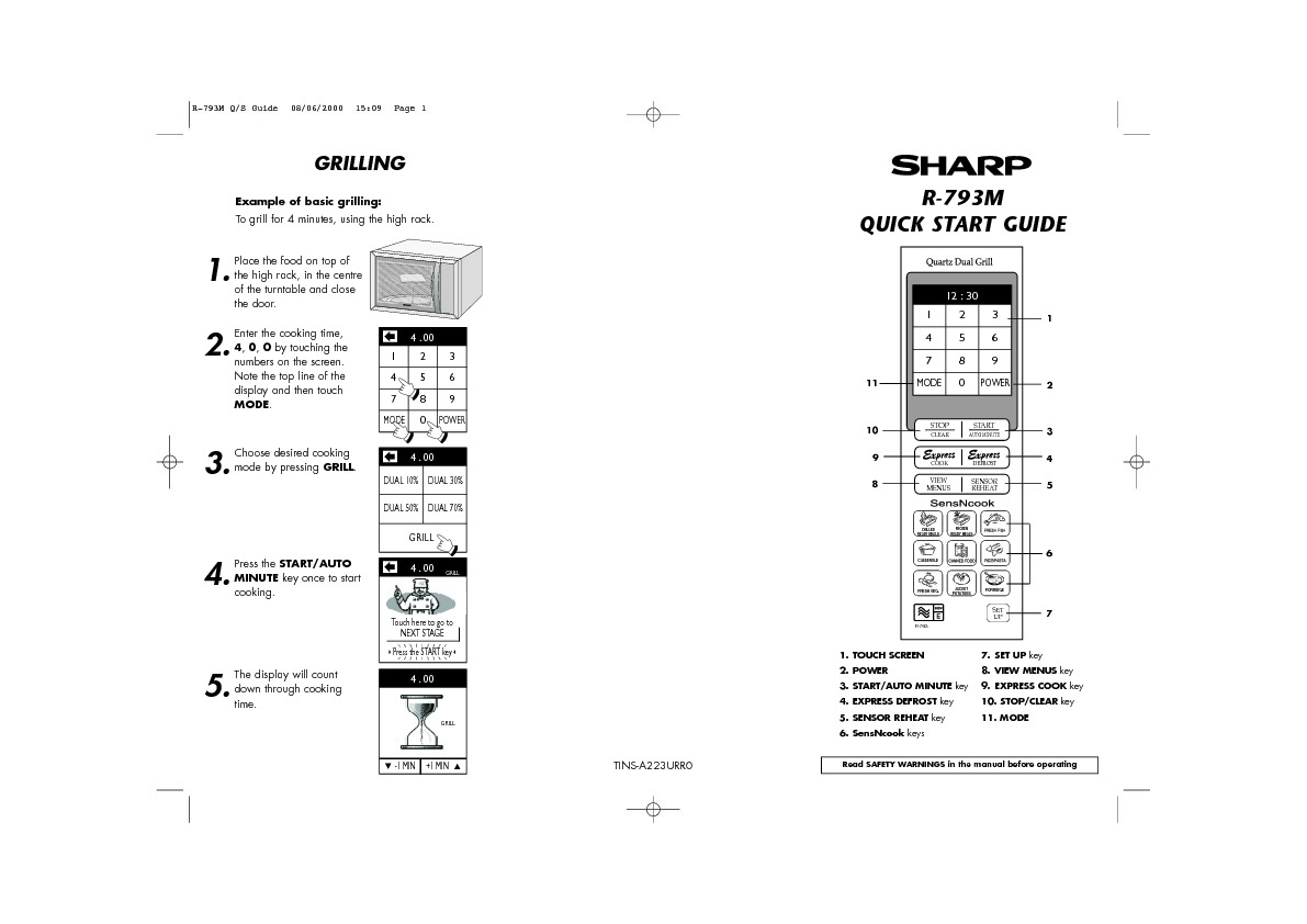 Sharp R-793 (SERV.MAN3) Service Manual — View online or