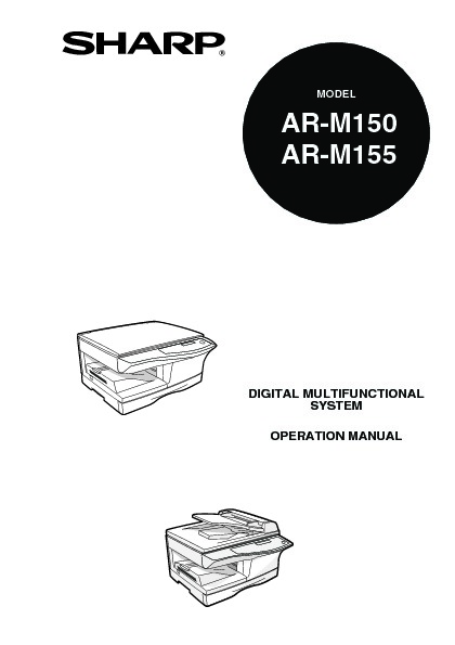 Sharp AR-M155 (SERV.MAN5) User Guide / Operation Manual