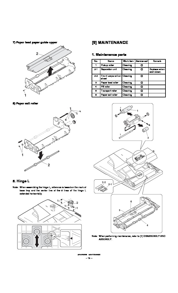 Sharp AR-RP6 (SERV.MAN7) Service Manual — View online or