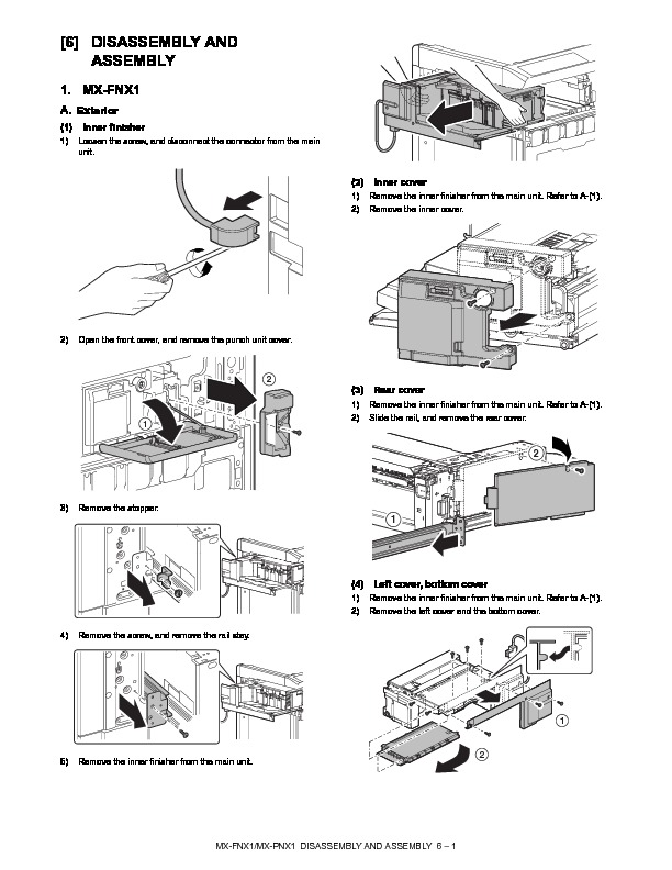 Sharp MX-FNX1 (SERV.MAN8) Service Manual — View online or