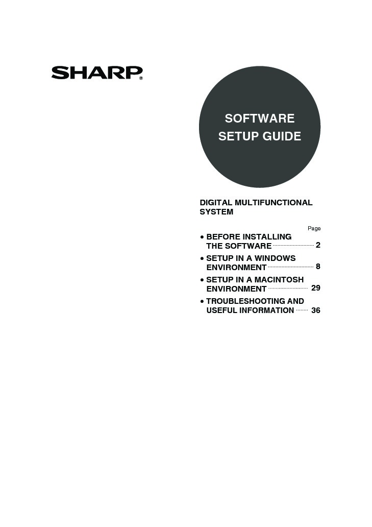 Sharp MX-M700U (SERV.MAN9) User Guide / Operation Manual