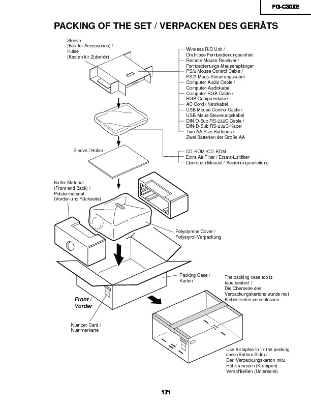 Sharp PG-C30XE (SERV.MAN5) Service Manual — View online or