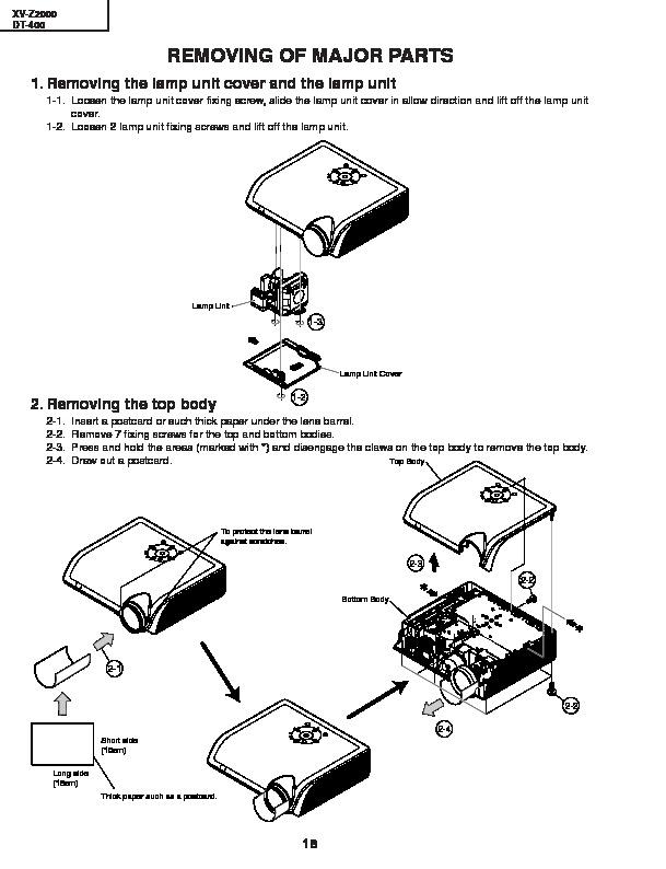 Sharp XV-Z2000E (SERV.MAN18) Service Manual — View online