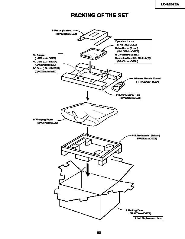 Sharp LC-15B2EA (SERV.MAN20) User Guide / Operation Manual