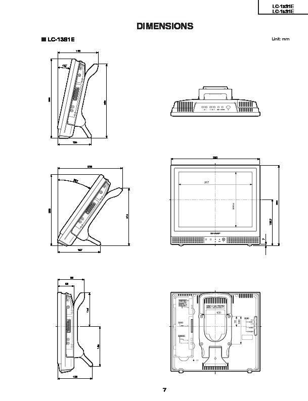 Sharp LC-15S1E Service Manual — View online or Download