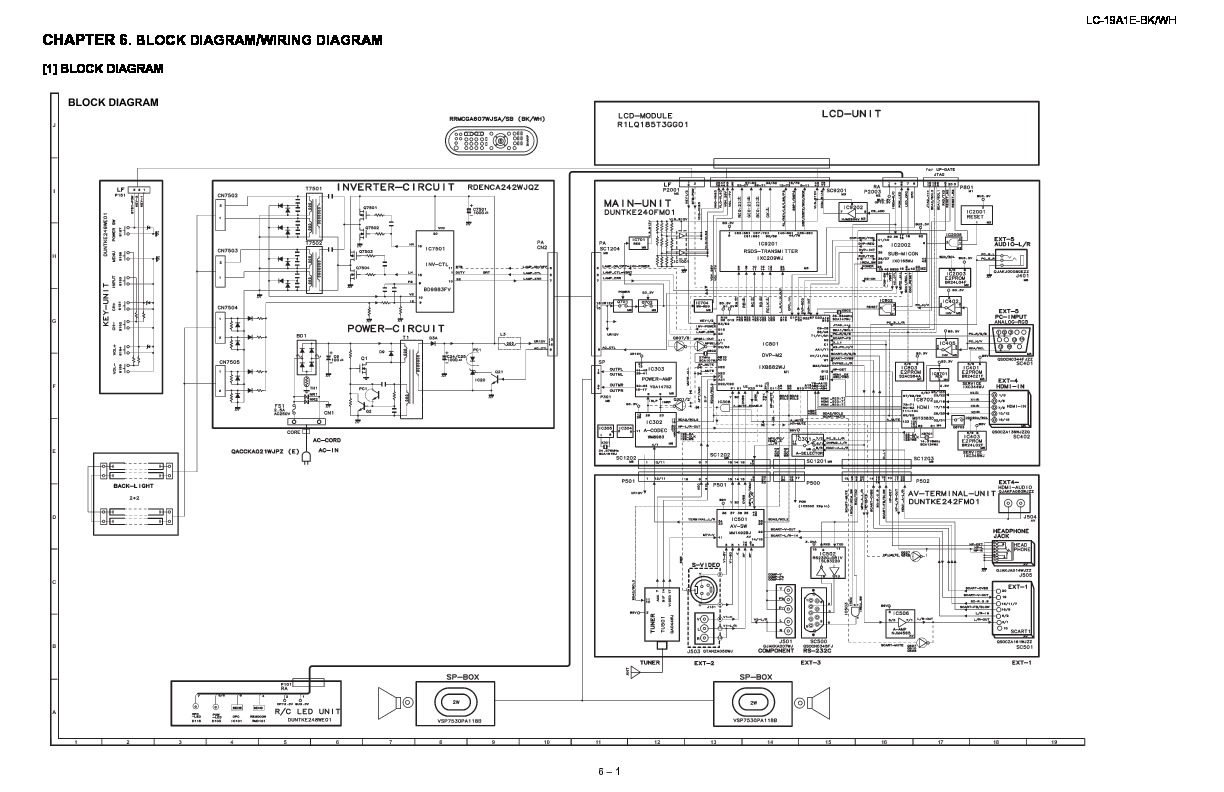 Sharp LC-19A1E (SERV.MAN6) Service Manual — View online or