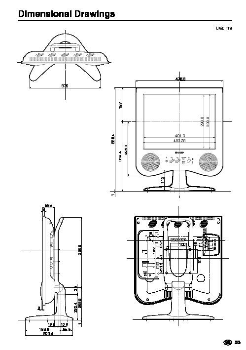 Sharp LC-20C2E (SERV.MAN20) User Guide / Operation Manual