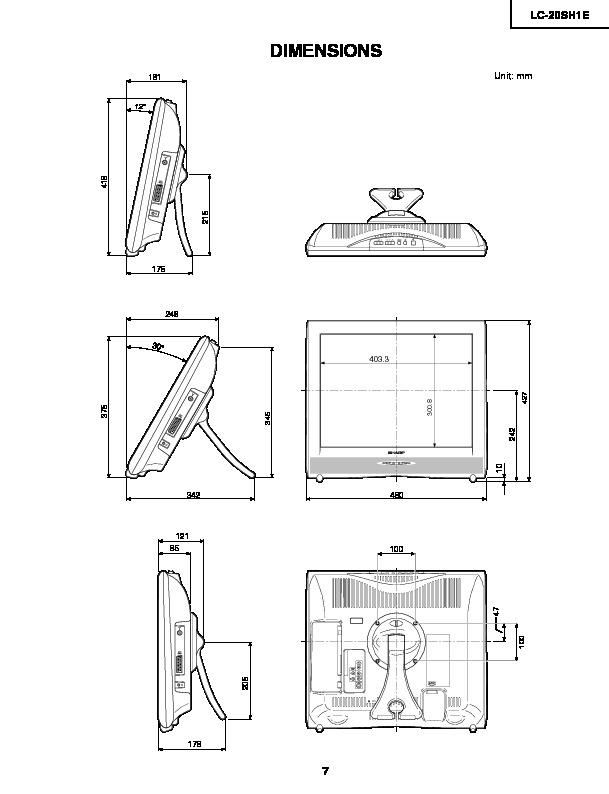 Sharp LC-20SH1E (SERV.MAN5) Service Manual — View online