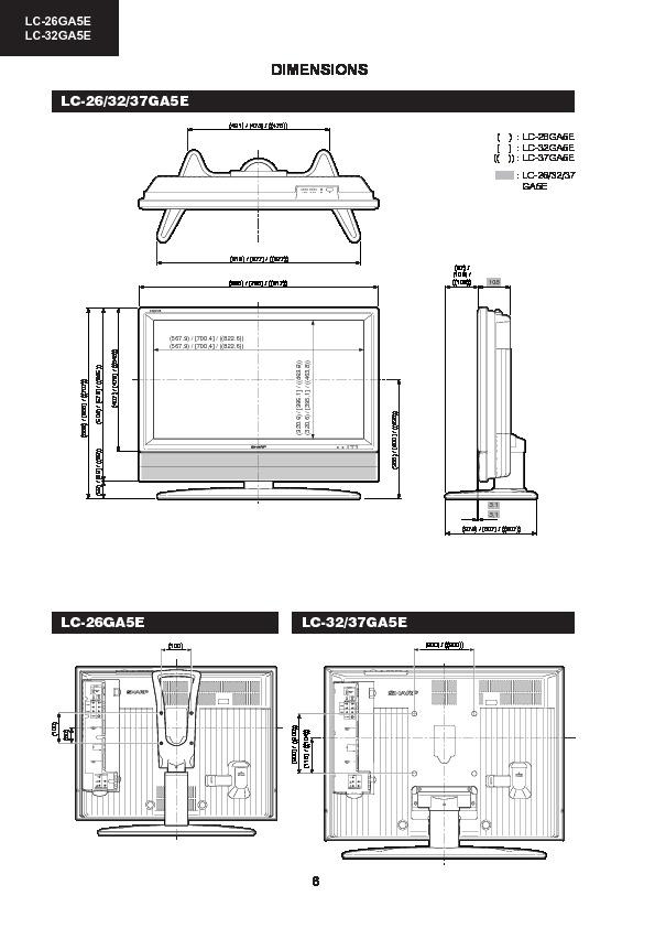 Sharp LC-26GA5E (SERV.MAN11) Service Manual — View online