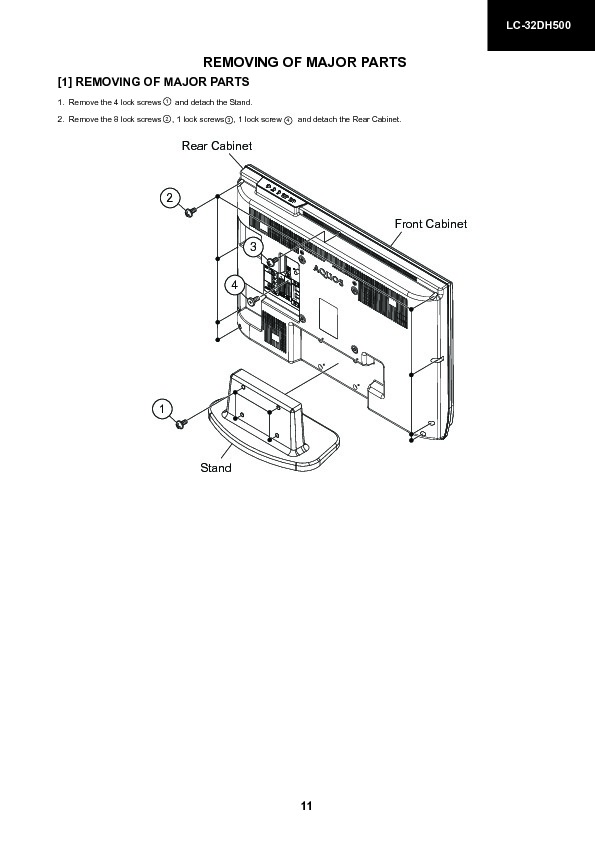 Sharp LC-32DH500E (SERV.MAN17) Service Manual — View