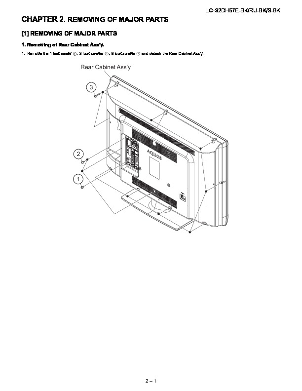 Sharp LC-32DH57E (SERV.MAN10) Parts Guide — View online or