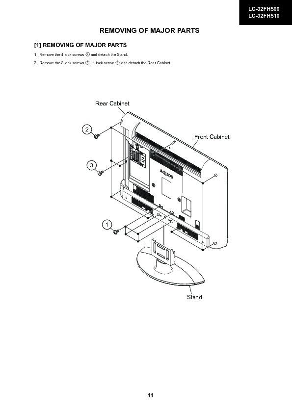 Sharp LC-32FH500 (SERV.MAN14) Service Manual — View online