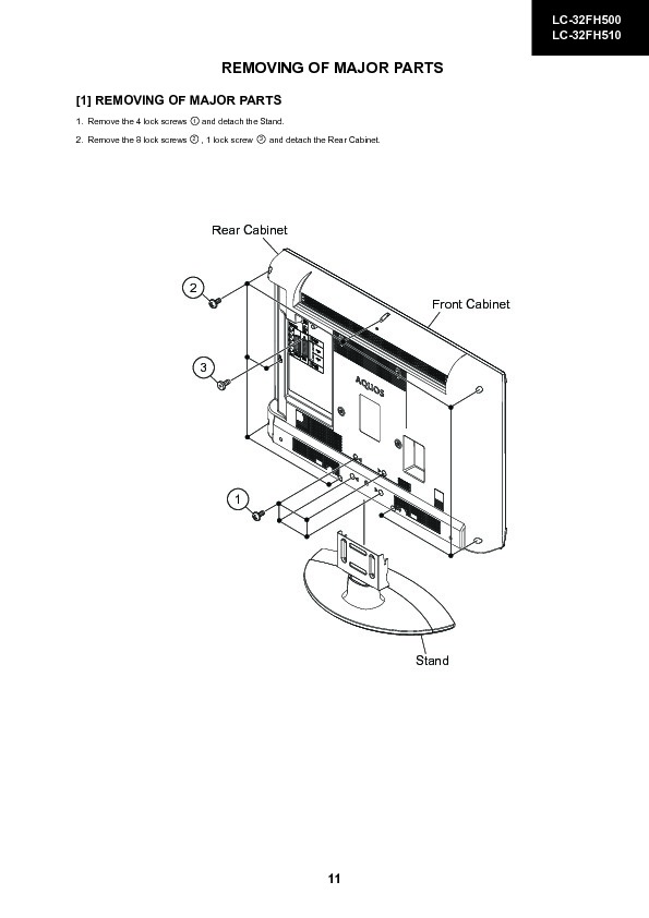 Sharp LC-32FH510E (SERV.MAN6) Service Manual — View online
