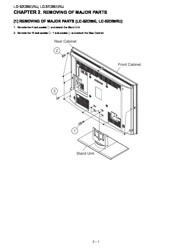 Sharp LC-37D65 (SERV.MAN3) Service Manual — View online or