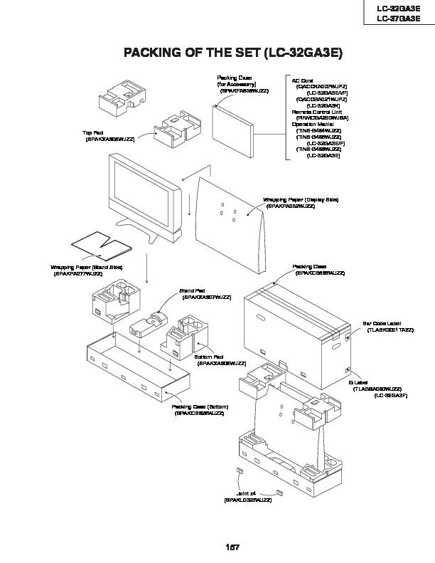Sharp LC-37GA3E (SERV.MAN12) Service Manual — View online