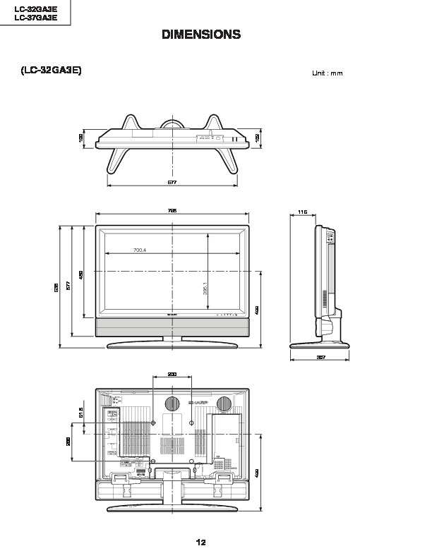 Sharp LC-37GA3E (SERV.MAN5) Service Manual — View online