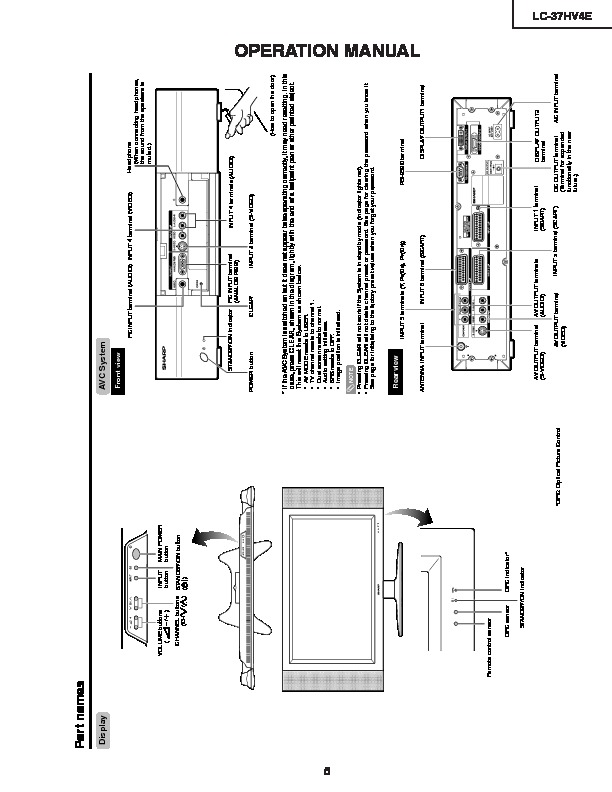 Sharp LC-37HV4E (SERV.MAN4) Service Manual — View online