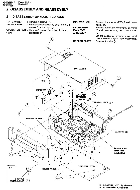 Sharp VC-M26HM (SERV.MAN5) Service Manual — View online or