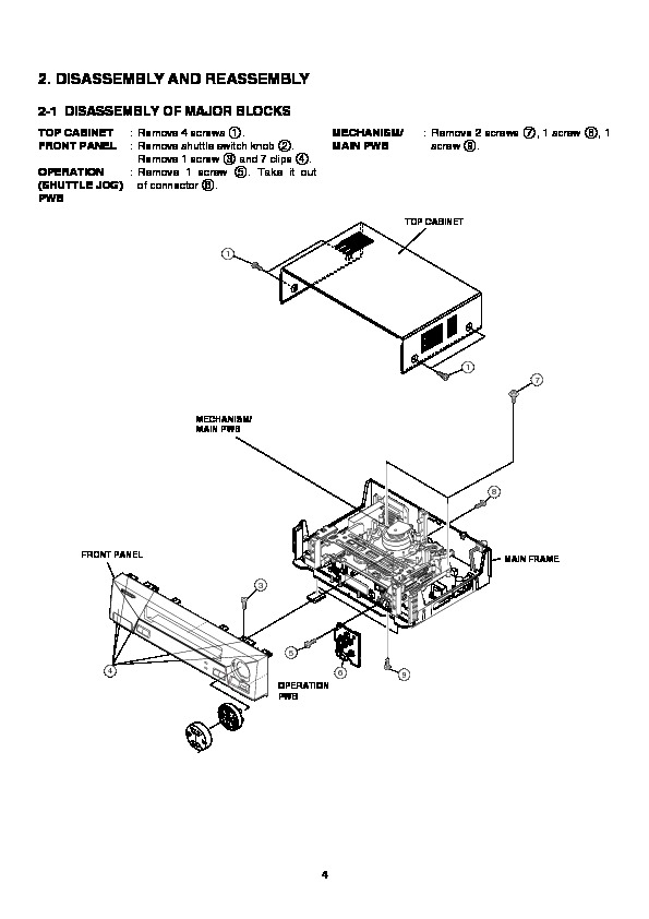 Sharp VC-M303 (SERV.MAN11) Service Manual — View online or
