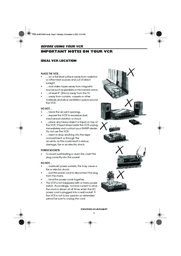 Sharp VC-MH835 (SERV.MAN16) User Guide / Operation Manual