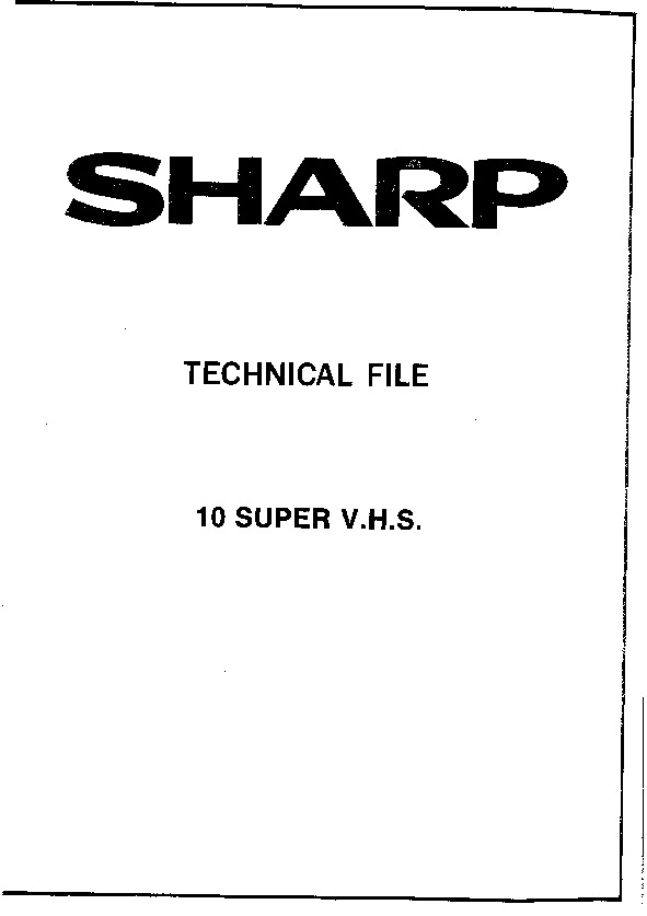 Sharp VC-S1000H (SERV.MAN15) Service Manual — View online
