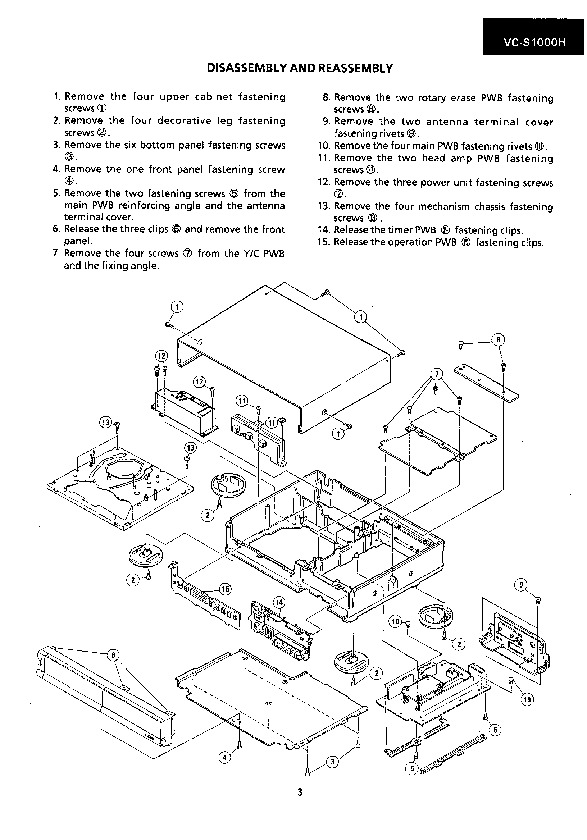 Sharp VC-S1000H (SERV.MAN23) Service Manual — View online
