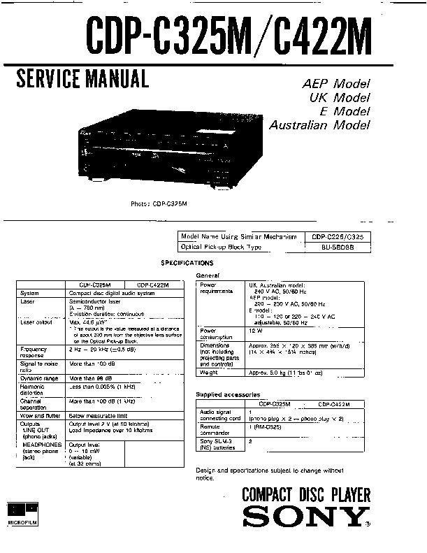 Sony LBT-A50, LBT-A50CD, LBT-A50CDM Service Manual — View