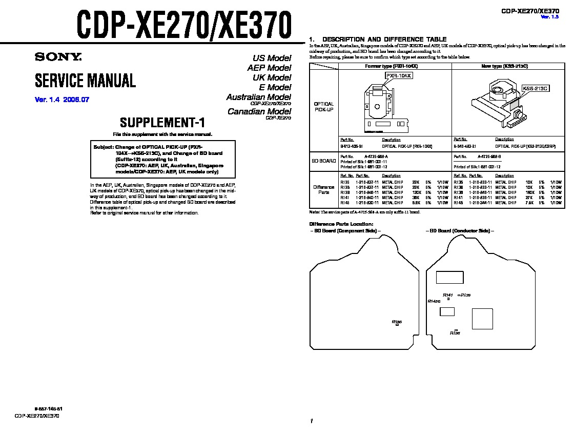 Sony MHC-RG190, MHC-RG290 Service Manual — View online or