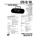 Sony CFD-10, CFD-11 Service Manual — View online or