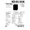 Sony FH-B510, MHC-510 Service Manual — View online or