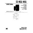Sony FH-C33X, MHC-C33, SS-M33, SS-M55 Service Manual