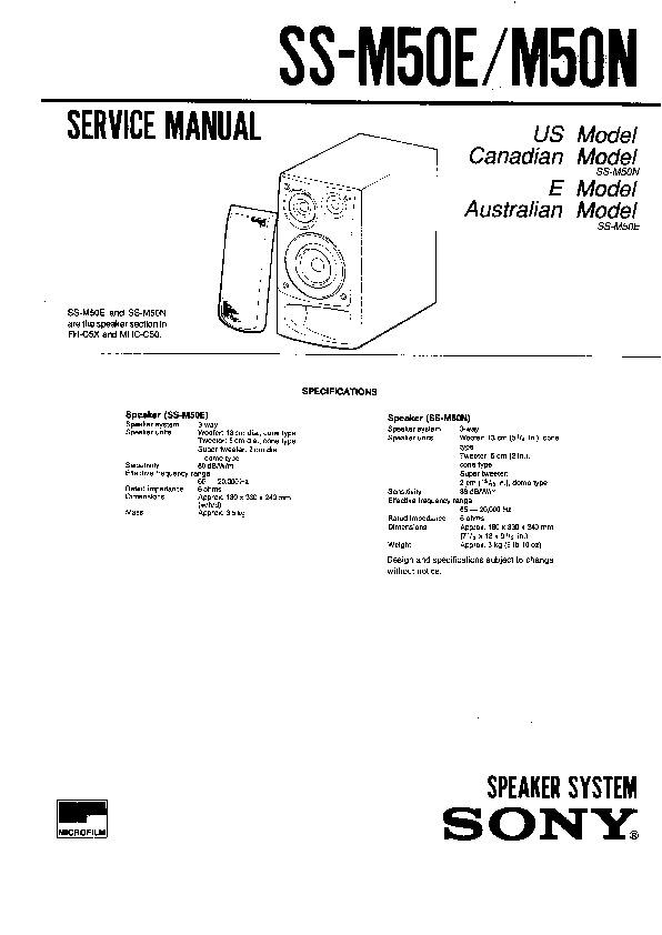 Sony FH-C5X, HCD-C50, HCD-C50U, MHC-C50 Service Manual