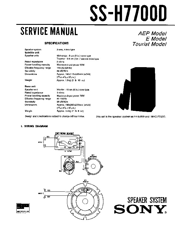 Sony FH-B50CD, FH-B55CD, SS-H77 Service Manual — View