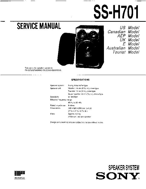 Sony FH-CX35, HCD-H305, MHC-C305 Service Manual — View