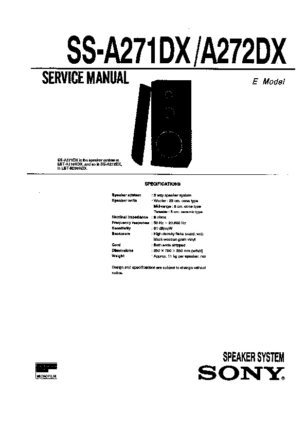 Sony LBT-N200 Service Manual — View online or Download