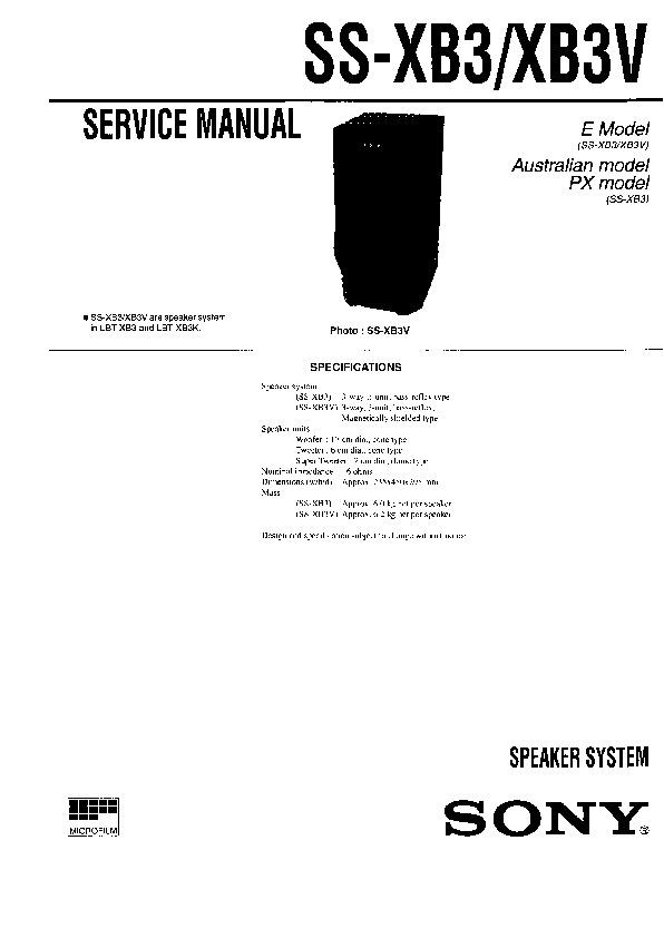 Sony LBT-D290, LBT-G3300, LBT-XB3 Service Manual — View online or Download repair manual