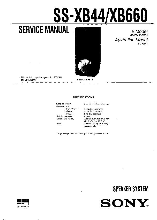 Sony HCD-D390, HCD-D790, HCD-G5500, HCD-XB33, HCD-XB44