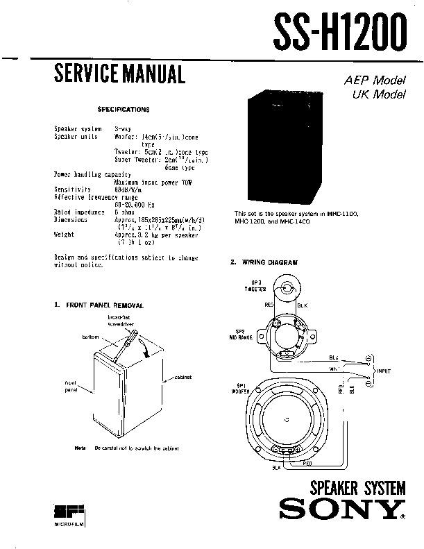 Sony FH-B50CD, FH-B55CD, MHC-1100 (SERV.MAN2) Service