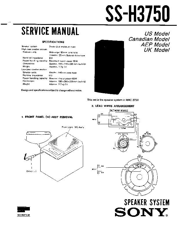 Sony MHC-2750, MHC-3750, ST-H2750, ST-H3750 (SERV.MAN2