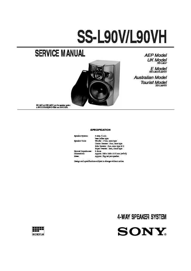 Sony MHC-D90AV, MHC-GR10AV, MHC-RX100AV Service Manual