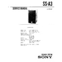 Sony SS-A3 Service Manual — View online or Download repair