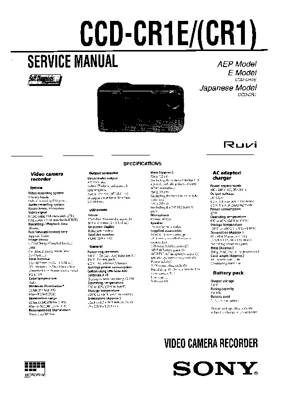 Sony Car Audio Service Manuals and Schematics — repair
