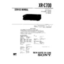 Sony XR-C700 Service Manual — View online or Download