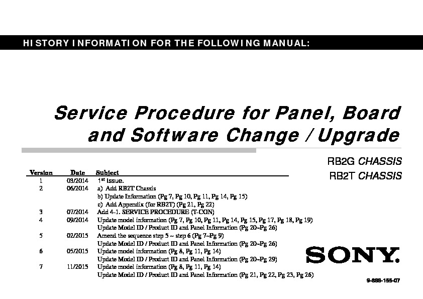 Sony KDL-40W605B, KDL-48W605B Service Manual — View online