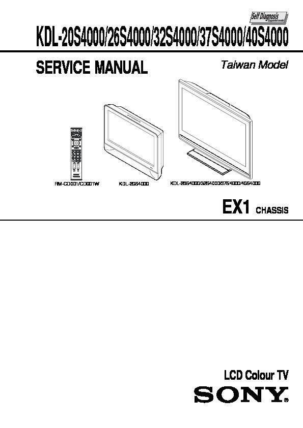 Sony KDL-20S4000, KDL-26S4000, KDL-32S4000, KDL-37S4000